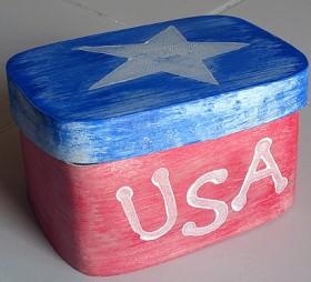 4th of July Patriotic USA Box