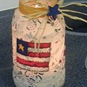 4th of July Patriotic Candle Jar