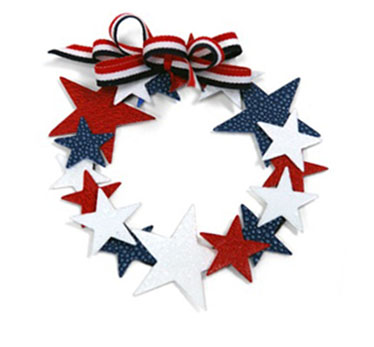 Fourth of July Star Wreath