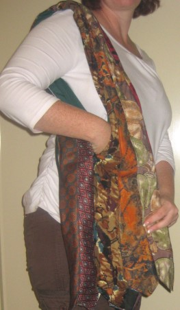 Recycled Neck Tie Shoulder Bag