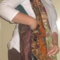Recycled Neck Tie Shoulder Bag