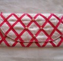 Clutch Bag - Pink Ribbon Quilted