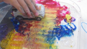 Toy Car Tactile Painting
