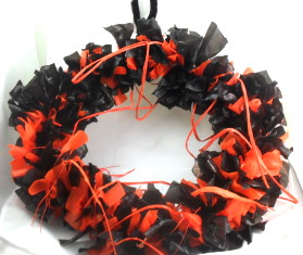 Orange Raffia Wreath