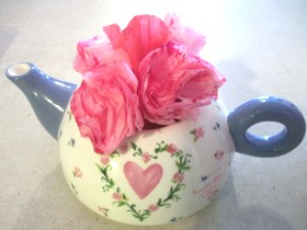 Coffee Filter Valentine Roses