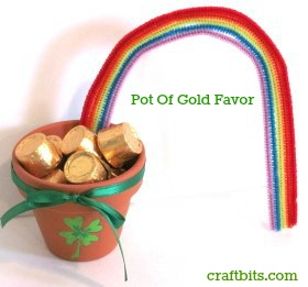 St Patrick's Day Pot Of Gold Favor