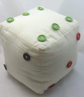 button dice soft toy