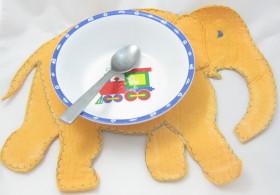 Upcycled Shamwow – Elephant Baby Placemat