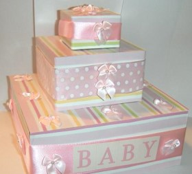 baby shower box cake
