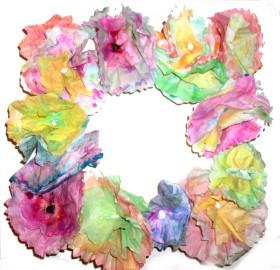Wreath – Coffee Filter Flowers