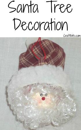 Tree Decoration – Whimsical Santa Christmas Ball