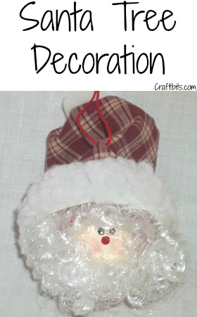 Tree Decoration – Whimsical Santa Christmas Ball