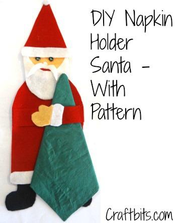 DIY Napkin Holder In Shape Of Santa