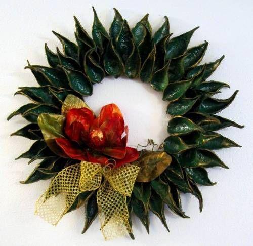 Wreath Made With Milkweed Pods