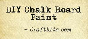 How To Make Chalk Board Paint