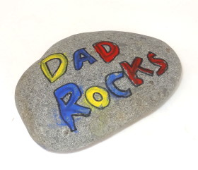 Father's Day Craft: Dad Rocks