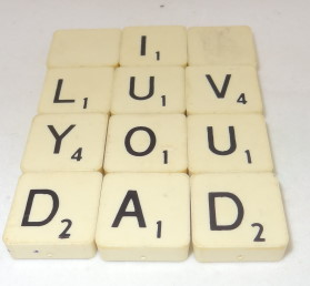 Father's Day Craft: Scrabble Tile Coaster