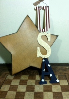 USA Letters Craft