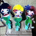 Altered Clothespin Clips
