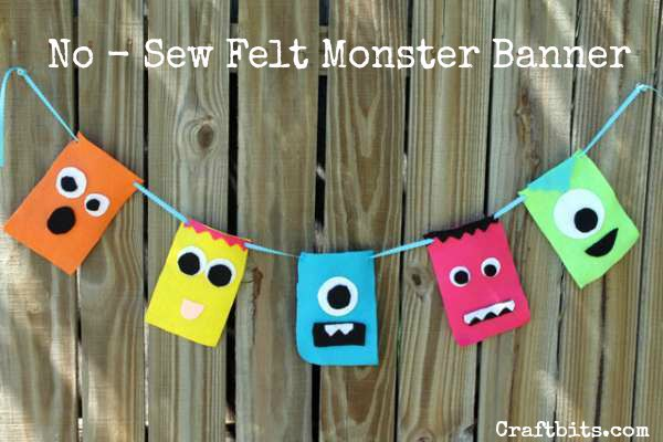 No-Sew Felt Monster Banner