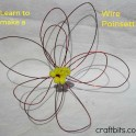 Learn to make a Wire Poinsettia