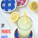 DIY Patriotic Party Coasters