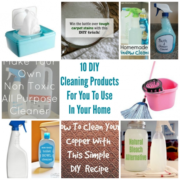 10 DIY Cleaning Products For You To Use In Your Home