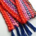 Crochet a Colorful Braided Scarf (Using Broomstick or Cardboard)