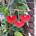 Felt Hearts on a Branch!