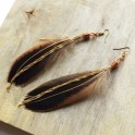 Create Elegant Feather Dangle Ear Hooks