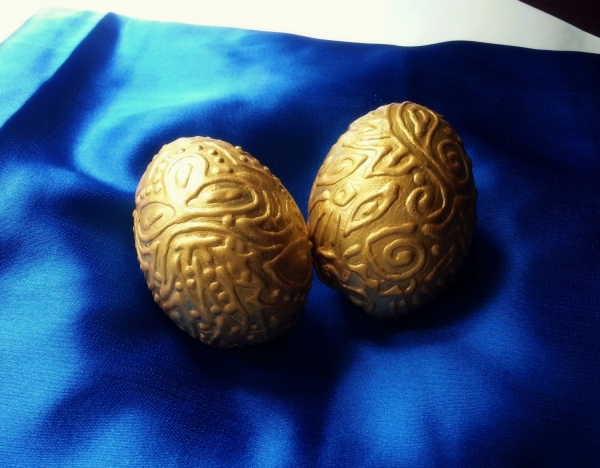 gold embossed easter eggs