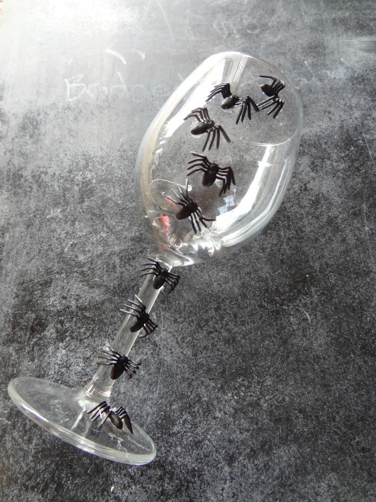 Halloween Spider Wine Glass