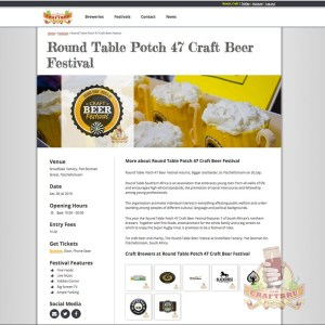 A craft beer festival listing example on CraftBru.com