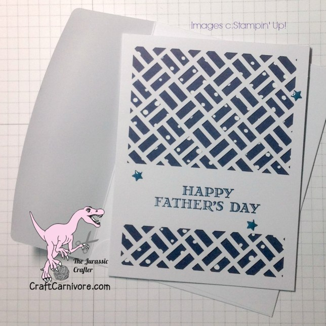 Stampin Up My Paper Pumpkin May 2016 Father's Day Idea - The Jurassic Crafter stampinup