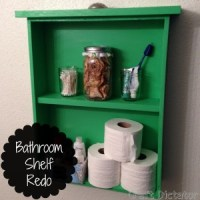 Bathroom Shelf Redo