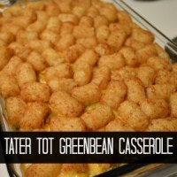 Whip It Up Wednesday-Tater Tot Green Bean Casserole