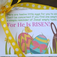 Easter Egg Tin With Printable