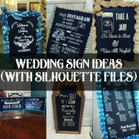 Wedding Sign Ideas (With Silhouette Files)