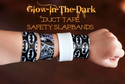 Glow In the dark Duct Tape Safety Slapbands