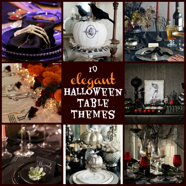10 elegant Halloween Table Themes
