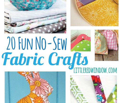 20 No-Sew Fabric Craft Ideas – Craft Gossip