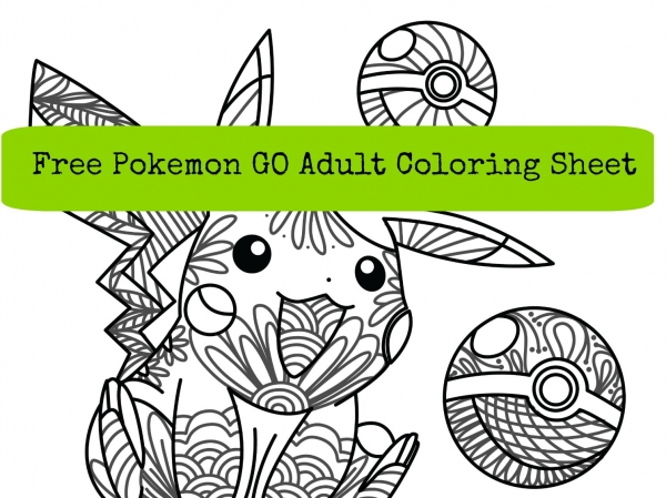 pokemon go adult coloring sheet