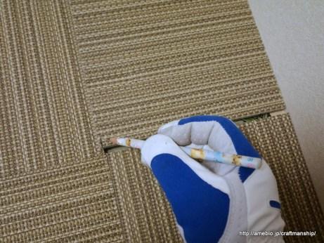 和室にタイルカーペット0