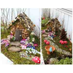 Relieving A Moss Covered Fairy House Year Craft Studio Fairy Garden Kids Fairy Garden Kit Turn An Ordinary Wooden Birdhouse Into An Fairy Housenestled
