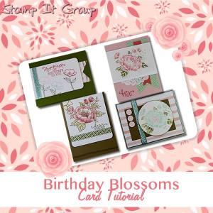 birthday blooms card tutorial
