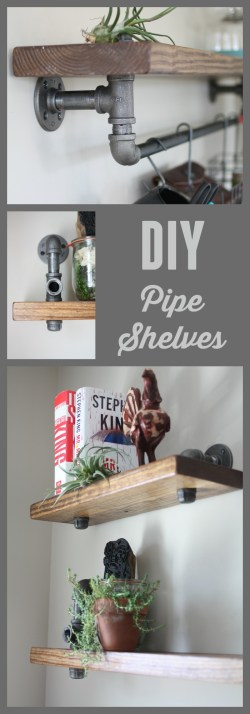 Small Of Black Pipe Shelves