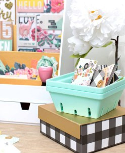 Chic Desktop Organizers from Paper Crate at Craft Warehouse