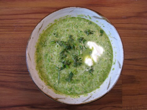 Green Pea and Asparagus Soup