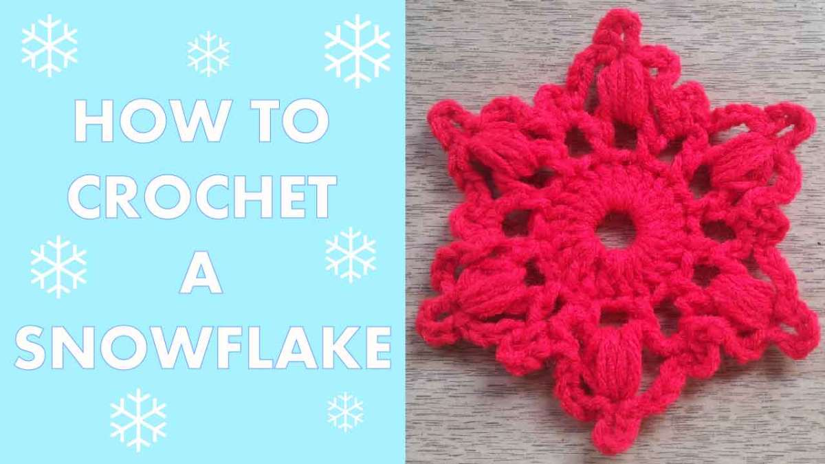 How to Crochet a Snowflake #2