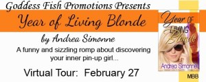 The Year of Livng Blond by Andrea Simonne #bookReview @goddessfish